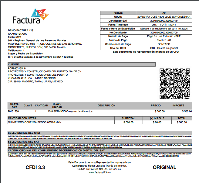 Como hacer factura de consumo de restaurante o alimentos for Manual de compras de un restaurante pdf
