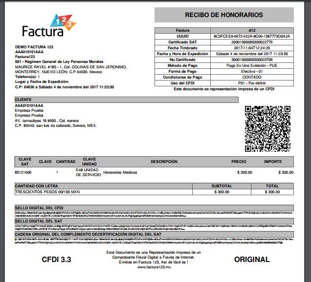 Como hacer factura por honorarios médicos o dentales CFDI 3.3 ...
